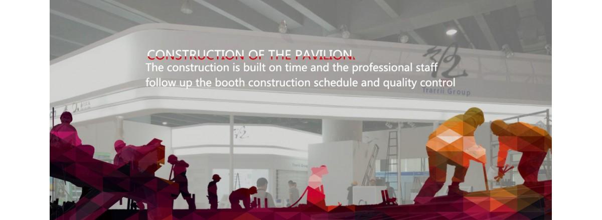 Construction of the pavilion
